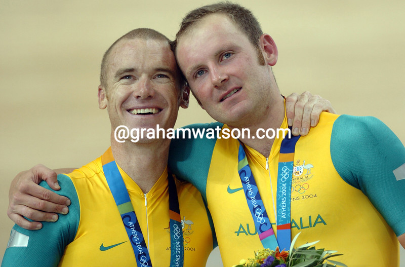 STUART O'GRADY AND GRAEME BROWN IN THE 2004 OLYMPIC GAMES
