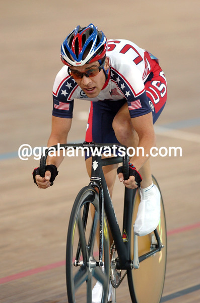 Colby Pearce in the 2004 Olympic Games Mens Points race