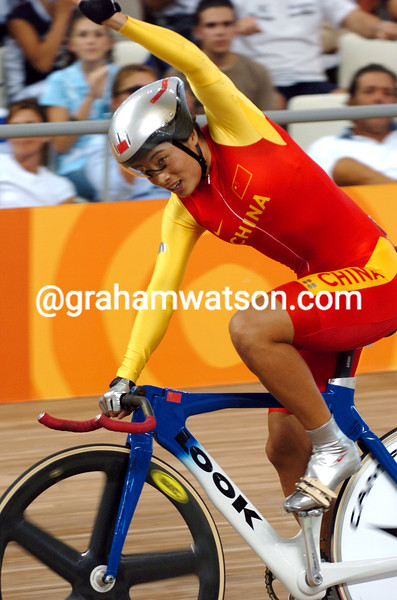 Jiang Yonghua in the womens 500-metre TT at the 2004 Olympic Games