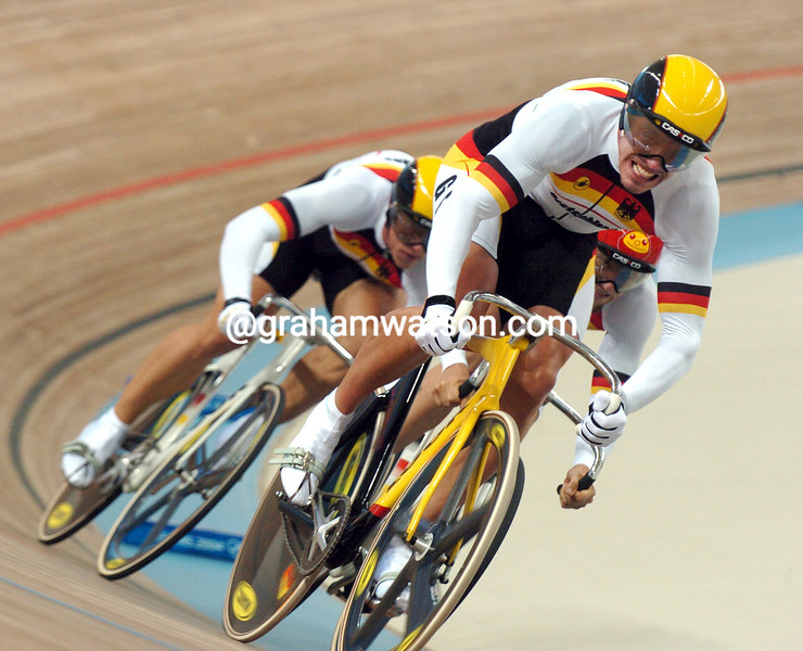 Germany races to Gold in the Olympic sprint in the 2004 Olympic Games