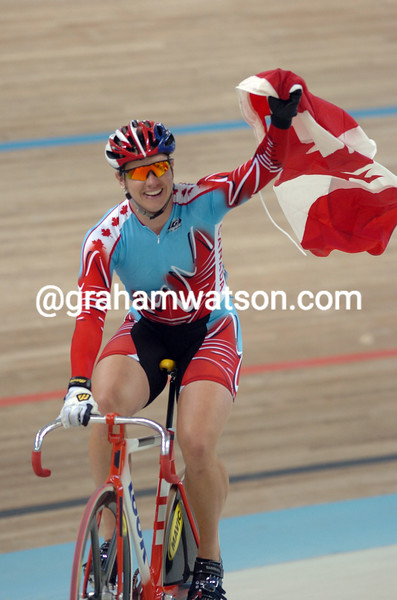 Lori-Anne Muenzer after winning the womens sprint at the 2004 Olympic Games