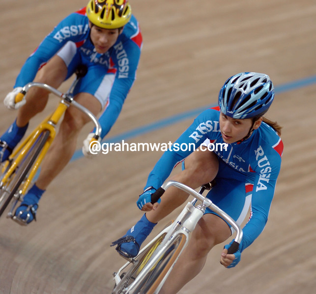 Tamilla Abassova in the womens sprint at the 2004 Olympic Games