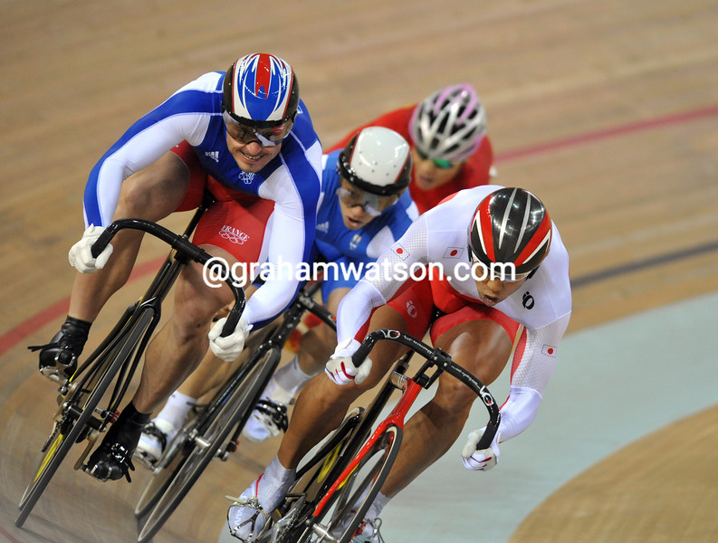 ARNAUD TOURNANT IN THE KIERIN AT THE 2008 OLYMPIC GAMES