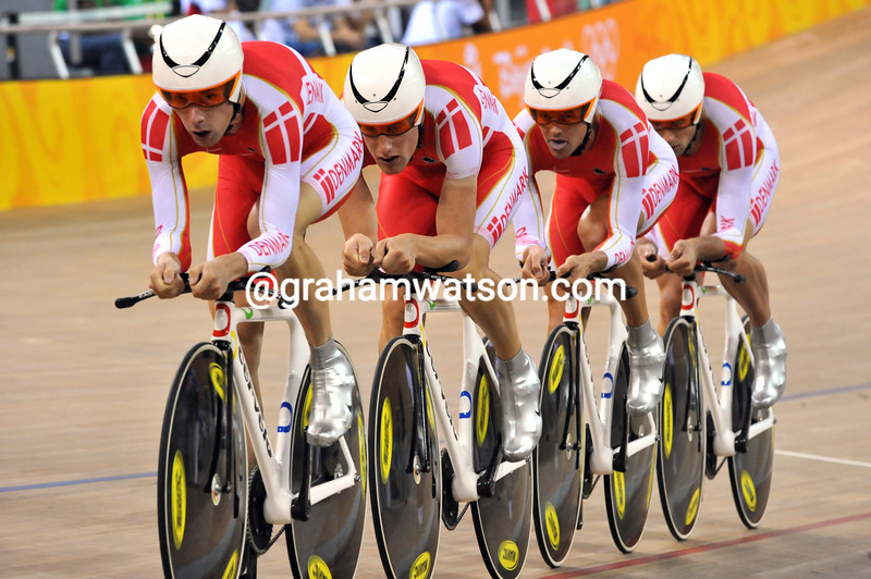 DENMARK IN THE TEAM PURSUIT AT THE 2008 OLYMPIC GAMES