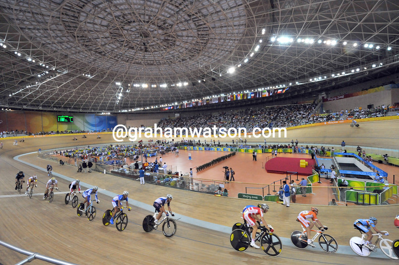 THE MADISON RACE AT THE 2008 OLYMPIC GAMES
