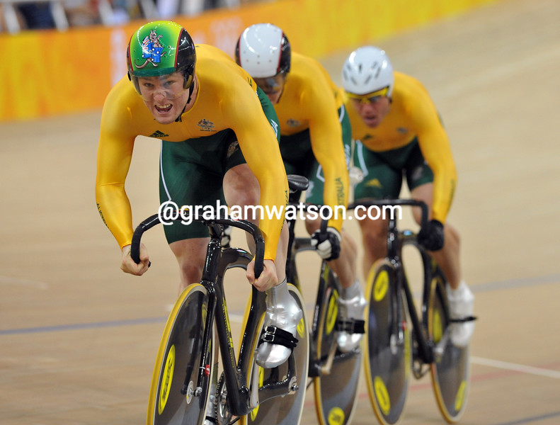 AUSTRALIA IN THE MENS SPRINT AT THE 2008 OLYMPIC GAMES