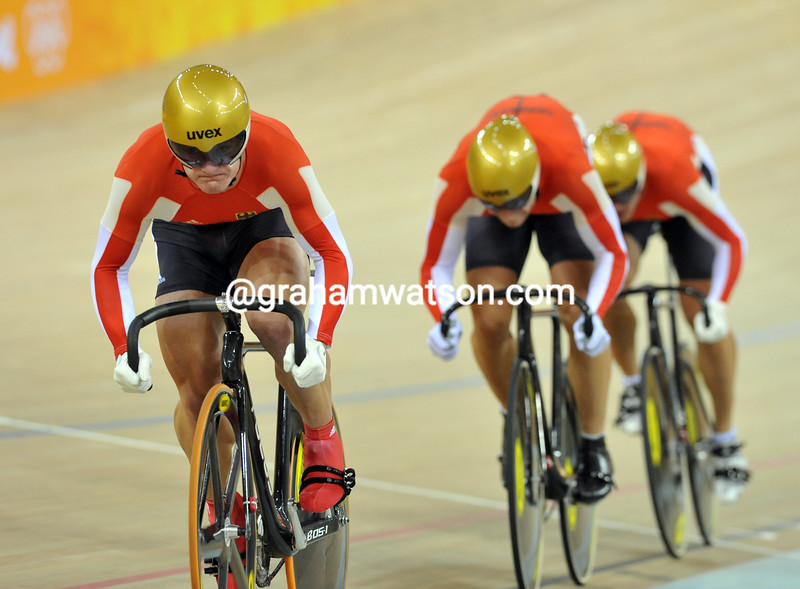GERMANY IN THE MENS SPRINT AT THE 2008 OLYMPIC GAMES