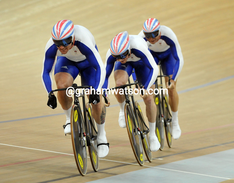 TEAM GB IN THE MENS SPRINT AT THE 2008 OLYMPIC GAMES