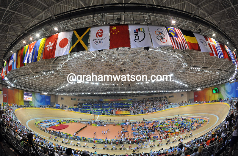 THE LAOSHAN VELODROME AT THE 2008 OLYMPIC GAMES