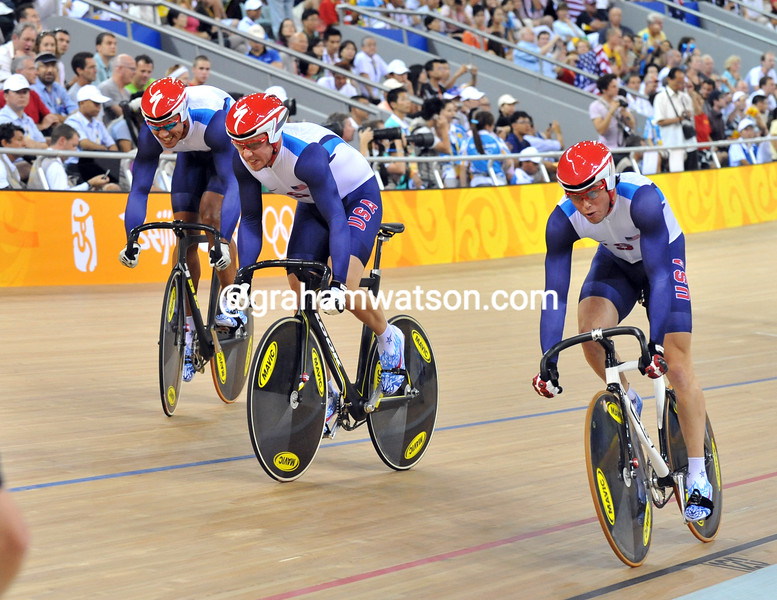 THE USA IN THE MENS SPRINT AT THE 2008 OLYMPIC GAMES