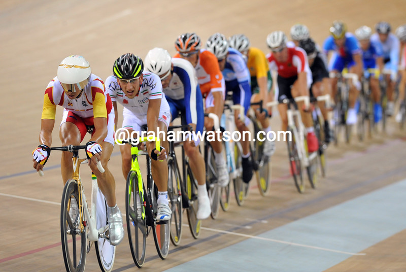 JUAN LLANERAS LEADS THE POINTS RACE AT THE 2008 OLYMPIC GAMES