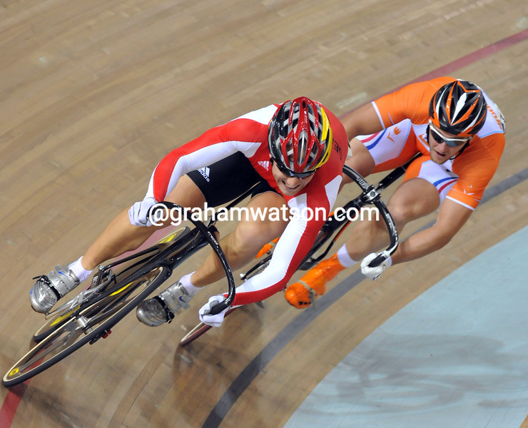 MAXMILIAN LEVY AND TEUN MULDER IN THE SPRINT AT THE 2008 OLYMPIC GAMES