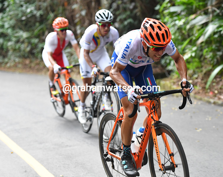 Nibali attacks just as Majka joins them behind