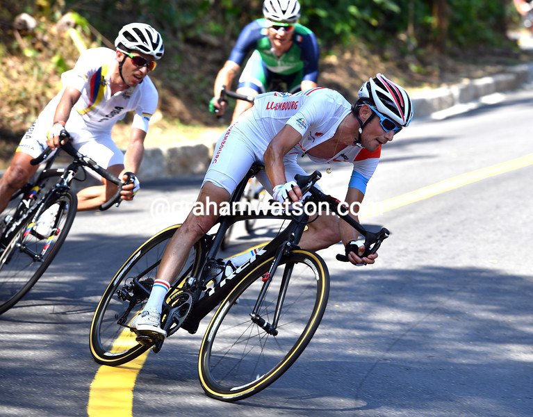 Frank Schleck descends in his last ever Olympics in his last-ever season as a professional...