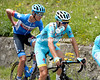 Vincenzo Nibali knows how to re-hydrate in stressful conditions...