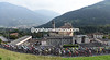 The peloton is still larhely intact as it climbs the Colle di Gallo with about 95-kilometres to go...