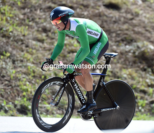 Nicholas Roche has had better days - the Irishman took 41st place at 3' 50.30""