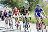 The aftermarth of the crash has allowed an escape to develop after a mighty 75-kilometres - Le Bon leads the way...