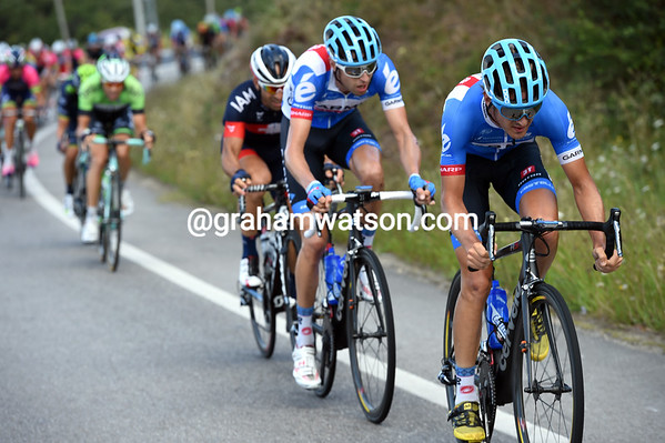 Garmin's Nathan Haas and Ryder Hesjedal are the ones chasing the most...