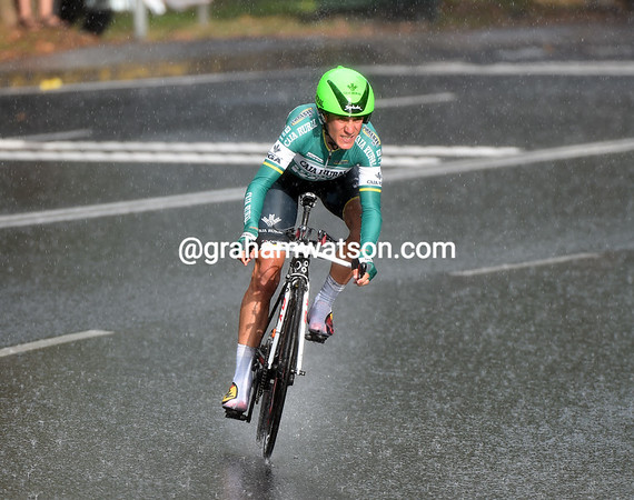 Amets Txurruka saw his TT chances go out the window when the second big shower of the evening came down on him...