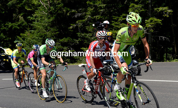 De Marchi leads Rodriguez and Mollema as the big escape forms...