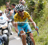 Vincenzo Nibali has suddenly accelerated away, facing the 13-kilometre climb with only Nieve to pass...