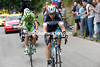 Tony Martin has attacked over the top with Alessandro De Marchi...