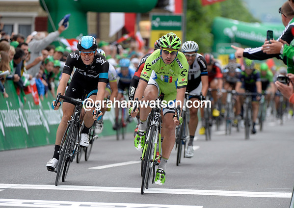 Peter Sagan takes fourth-place from Ben Swift - but Tony Martin is still race-leader...