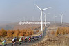 A thousand or more wind-turbines awaits the passage of the Tour of Beijing - it's windy up there..!