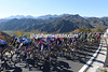 The beauty of the Beijing mountains lies behind the peloton on a 2nd-category ascent...