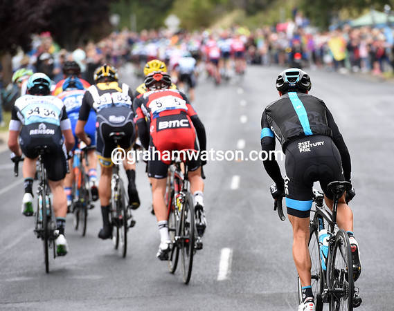 Richie Porte seems to be in trouble as the Geelong circuit begins, but the Tasmanian will work his way back...