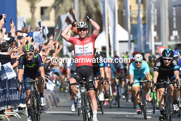 Mark Cavendish wins stage four from Elia Viviani and Juan-Jose Lobato - Degenkolb can only manage 9th place.!