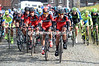 Rick Zabel and the BMC team have taken over the chasing on the StationStraat climb