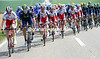 Katusha and Movistar pedal strongly into stiff winds as the first big lap is close to ending...