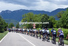 The peloton is heading into the Dolomites fast, and there's no escape got away yet..e