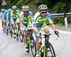 Ivan Rovny drives the Tinkoff express just one minute back...
