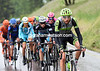 Ryder Hesjedal arrives with about ten others to begin a more serious escape...