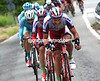 Lagutin and Katusha have swallowed Hesjedal up, and now tow Trofimov and Aru to the foot of the Mortirolo...