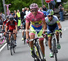 Contador starts the Mortirolo 50-seconds later - and immediately leaves everyone else behind..!