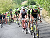 Cannondale-Garmin take over the chasing with about 75-kilometres left...