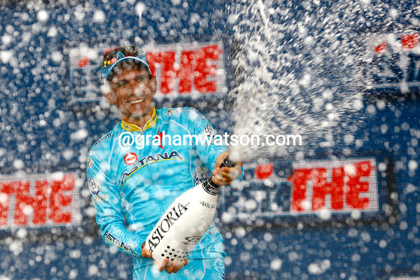 Paolo Tiralongo did win stage nine after passing Sagter after the summit and then pulling away...