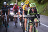 Slagter and Gesink form a six-man counter-attack with the other Etixx riders dropped...