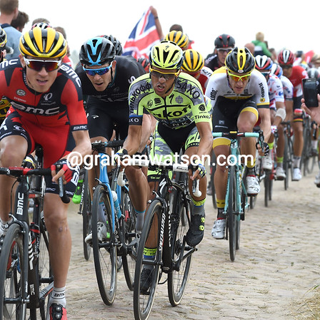 Alberto Contador is struggling a bit, but he's in good company behind Van Garderen...