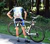 Alberto Contador is the main victim, but he's unhurt - unlike his bike...