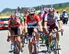 Bob Jungels is leading the Sagan group, along with De Gendt and Haller - the first hour of racing was covered at over 50-kilometres-per-hour..!