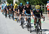 Jonathan Castroviejo paces the Froome group towards the foot of the Alpe d'Huez...