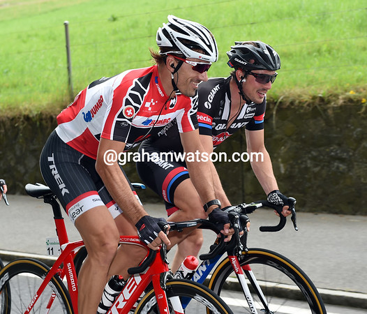 Fabian Cancellara's the best-placed Swiss cyclist, he gets to wear a red-led jersey that matches his new Trek bike...
