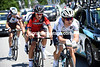 World Champion Michal Kwiatkowski leads a quartet of escapers clear...