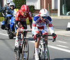 Marco Frapporti is chasing across the growing gap with Lars Bak...