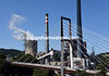 A different kind of Asturias for the peloton as it passes a coal-fired power plant...